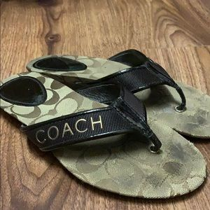 Coach used brown sandals